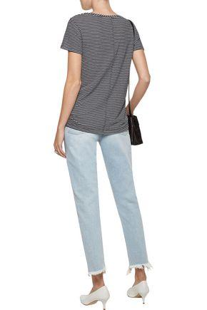 M.I.H JEANS Mimi high-rise frayed slim-leg jeans