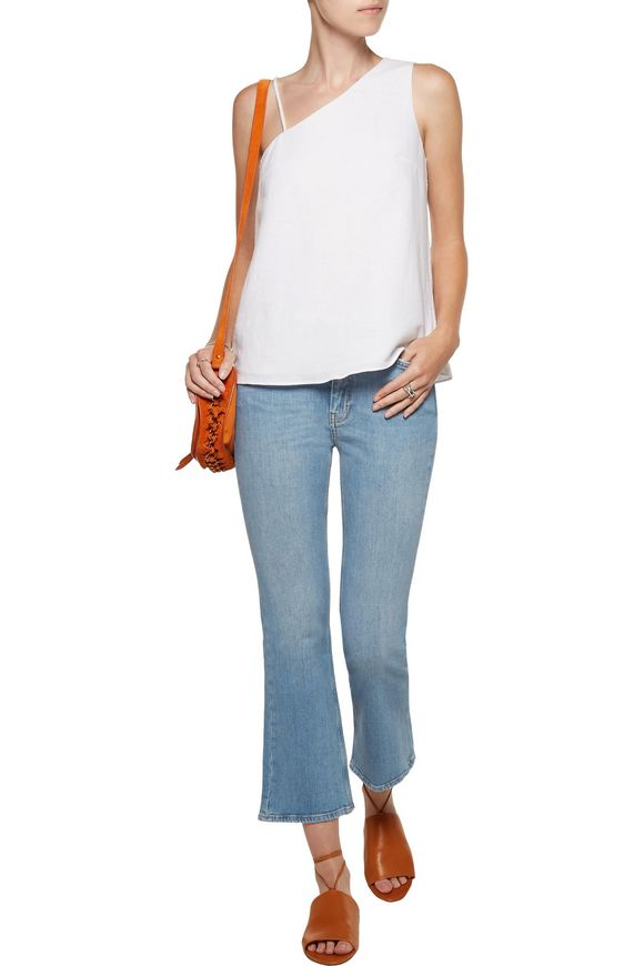 Marty cropped high-rise flared jeans   M.I.H JEANS   Sale up to 70% off    THE OUTNET