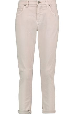 BRUNELLO CUCINELLI Cropped high-rise slim-leg jeans