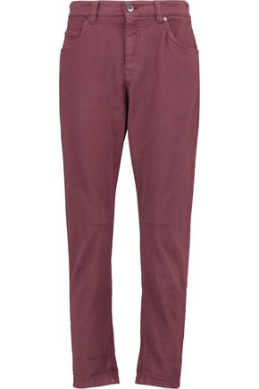 BRUNELLO CUCINELLI Cropped high-rise slim-leg jeans
