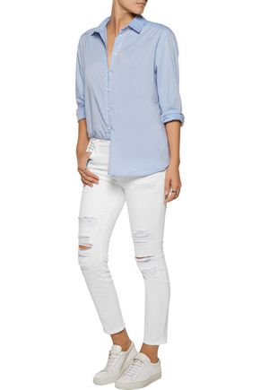 J BRAND 835 mid-rise distressed skinny jeans