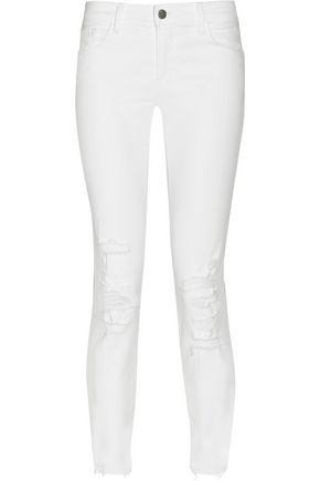 J BRAND 9326 distressed low-rise skinny jeans