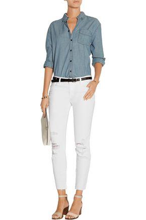 J BRAND 9326 distressed low-rise skinny jeans