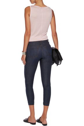 J BRAND Skeyla cropped mid-rise skinny jeans