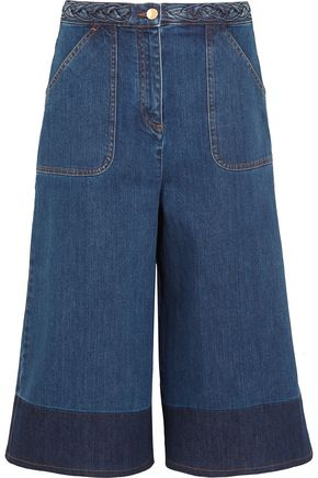 VALENTINO Two-tone denim culottes