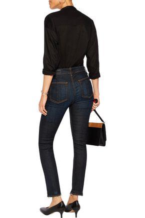 RAG & BONE Denny frayed mid-rise skinny jeans