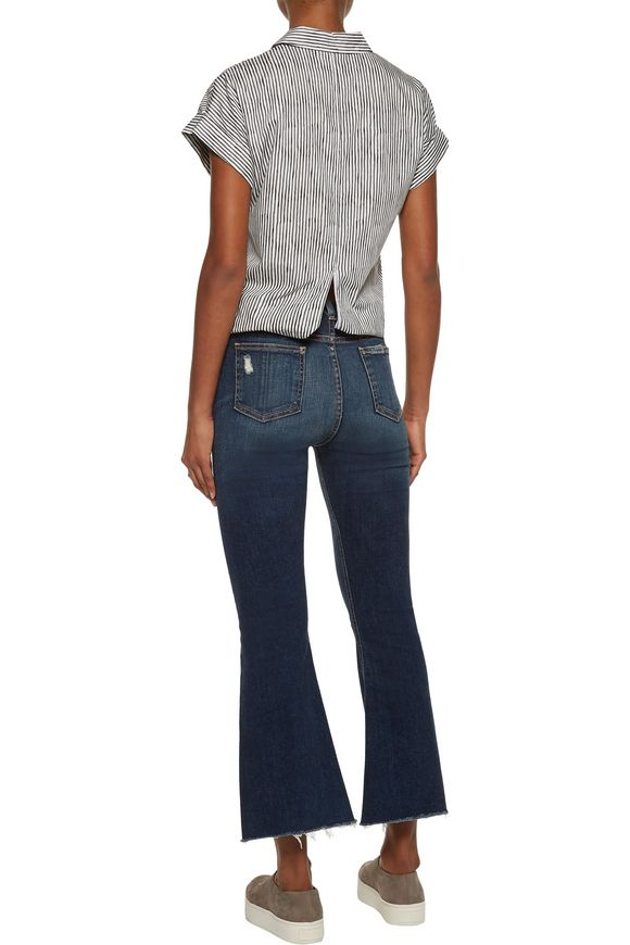 Cropped distressed mid-rise flared jeans | RAG & BONE/JEAN | Sale up to 70%  off | THE OUTNET