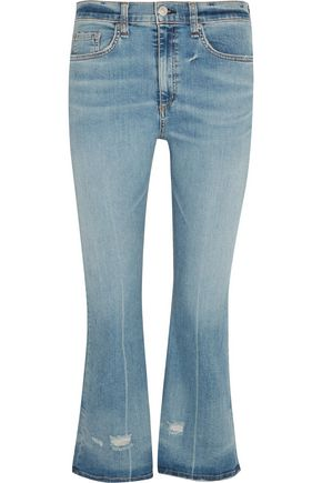 RAG & BONE High-rise cropped flared jeans