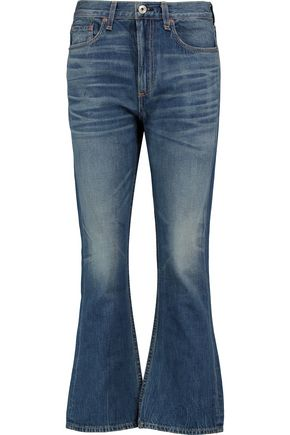 RAG & BONE Cropped high-rise bootcut jeans
