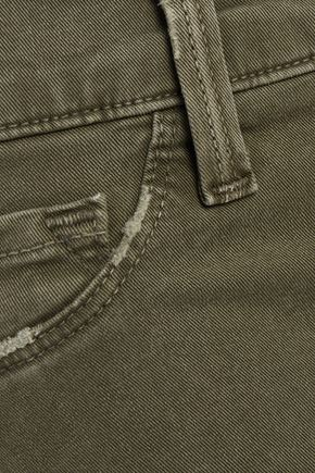 J BRAND 811 distressed mid-rise skinny jeans