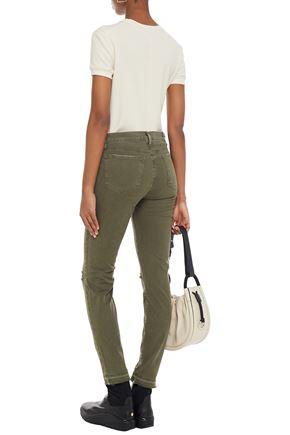 J BRAND Frayed-hem skinny jeans
