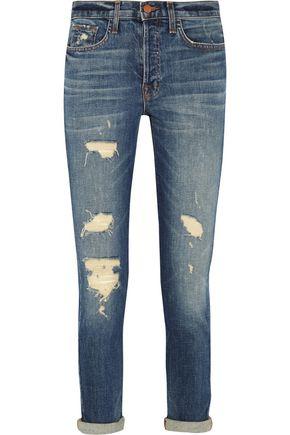 J BRAND Georgia mid-rise distressed slim boyfriend jeans