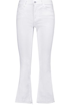 J BRAND Selena cropped mid-rise bootcut jeans