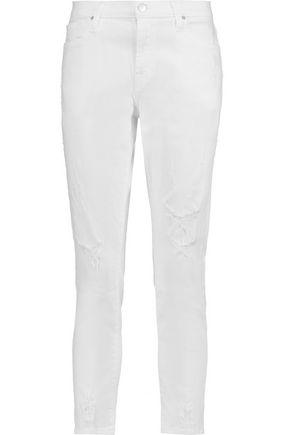 J BRAND Sadey mid-rise distressed slim-leg jeans