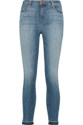 J BRAND High-rise faded skinny jeans