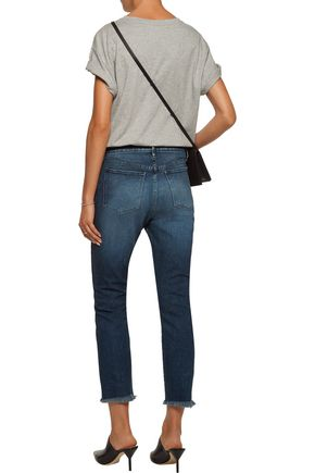 3x1 Distressed mid-rise straight-leg jeans