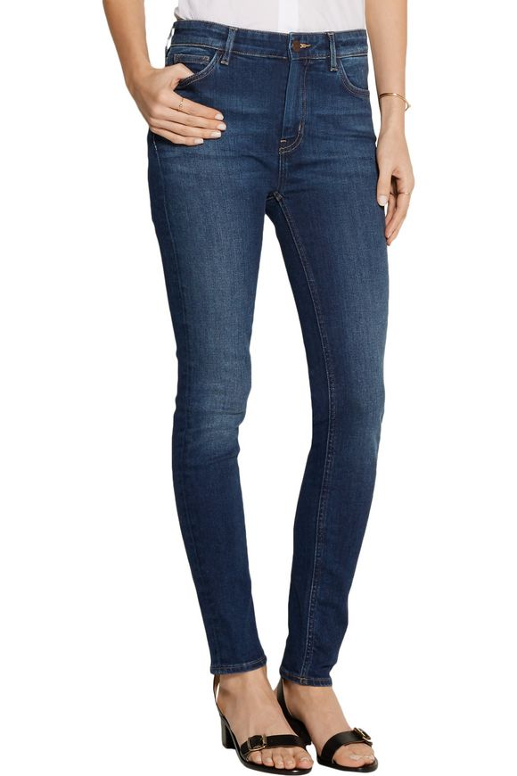 Bridge mid-rise distressed slim-leg jeans | M.I.H JEANS | Sale up to 70% off  | THE OUTNET