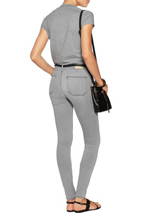 M.I.H JEANS Bodycon mid-rise frayed skinny jeans