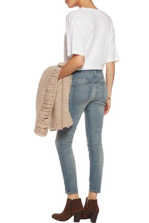 CURRENT/ELLIOTT The Stiletto mid-rise cropped skinny jeans