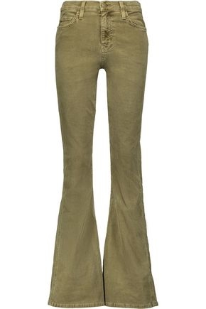 CURRENT/ELLIOTT High-rise corduroy flared jeans