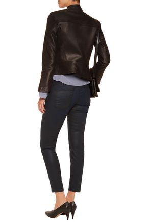 CURRENT/ELLIOTT The Stiletto coated mid-rise skinny jeans