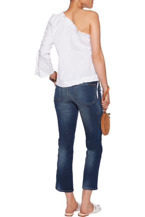 7 FOR ALL MANKIND Mid-rise cropped bootcut jeans