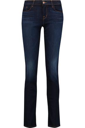 J BRAND Mid-rise slim-leg jeans