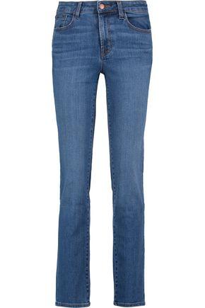 J BRAND Amelia low-rise straight-leg jeans