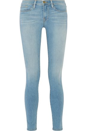BY FRAME Le Skinny De Jeanne faded mid-rise jeans