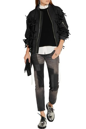 FACETASM Patchwork low-rise straight-leg jeans