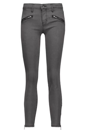 CURRENT/ELLIOTT The Soho Zip Stiletto mid-rise skinny jeans