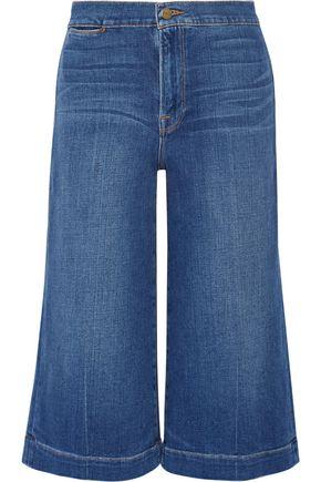 FRAME Le Culotte cropped high-rise wide-leg culottes