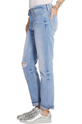 BY FRAME Le High distressed straight-leg jeans