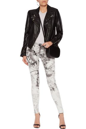 MOTHER The Looker printed low-rise skinny jeans