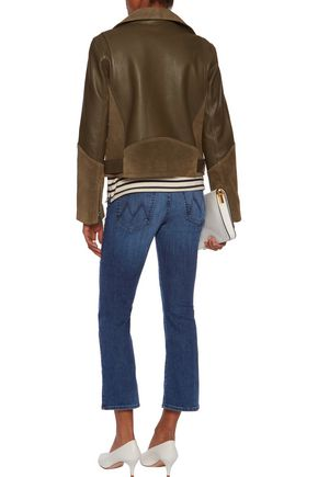 MOTHER Cropped mid-rise bootcut jeans