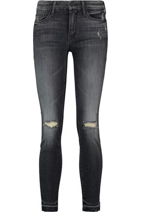 MOTHER The Looker distressed low-rise skinny jeans