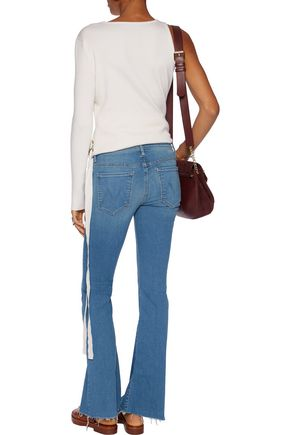 MOTHER The Weekender mid-rise flared slim-leg jeans