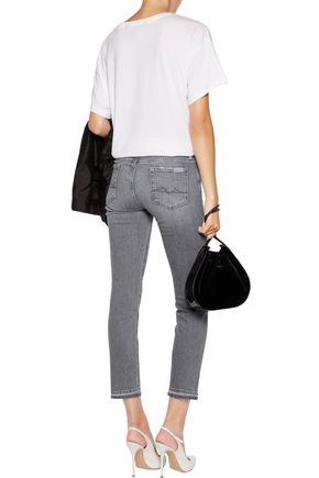 7 FOR ALL MANKIND Roxanne mid-rise cropped slim-leg pants