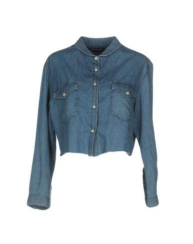 Купить Джинсовая рубашка синего цвета