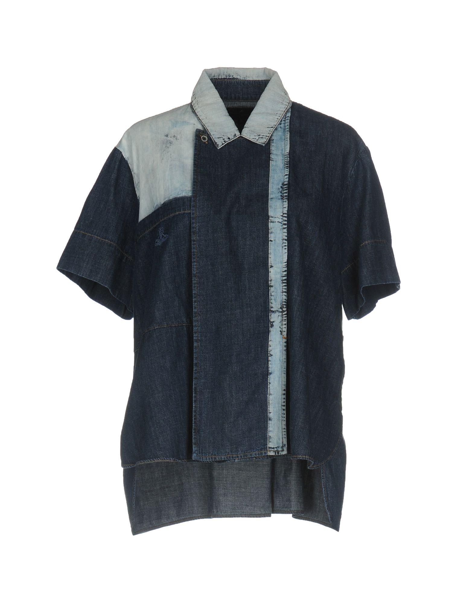 VIVIENNE WESTWOOD ANGLOMANIA Джинсовая рубашка vivienne westwood anglomania джинсовая верхняя одежда