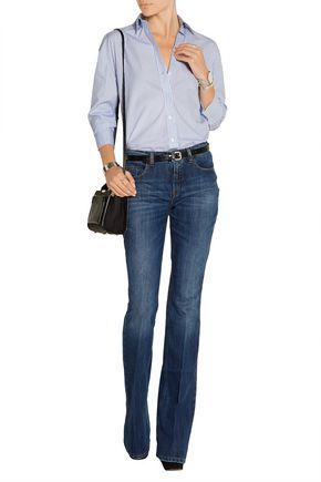 VICTORIA BECKHAM DENIM Mid-rise flared jeans