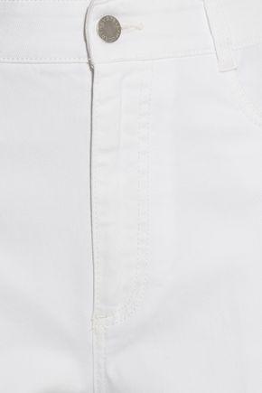 STELLA McCARTNEY Cropped high-rise wide-leg jeans