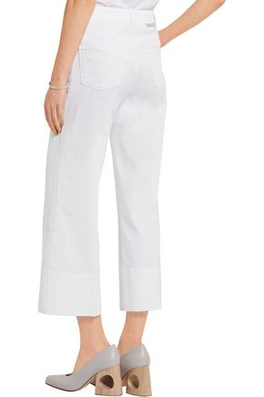 STELLA McCARTNEY Cropped high-rise wide-leg jeans