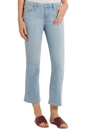 ... FRAME Le Crop low-rise bootcut jeans ...