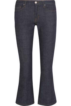 VICTORIA, VICTORIA BECKHAM Cropped mid-rise stretch bootcut jeans