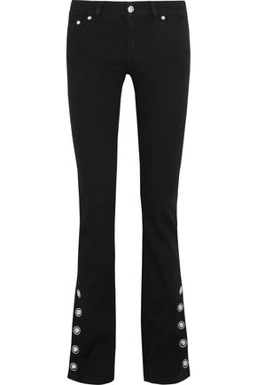 VERSUS VERSACE Mid-rise flared jeans