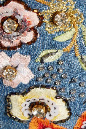 ALICE + OLIVIA Ryley embellished mid-rise flared jeans