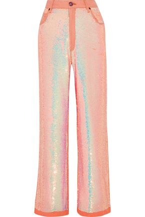 ASHISH Sequined mid-rise boyfriend jeans