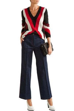 TOD'S High-rise wide-leg jeans