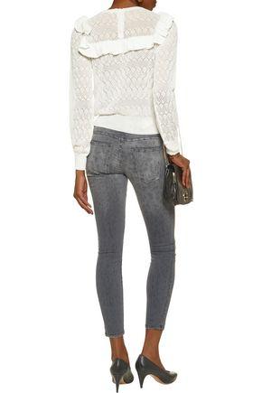 CURRENT/ELLIOTT The Stiletto mid-rise printed skinny jeans